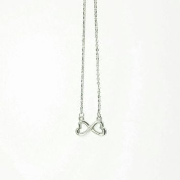 Stainless Steel Infinity Heart Necklace