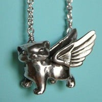 ShanaLogic.com - 100% Handmade & Independent Design! Winged Kitten Necklace - Jewelry - Girls