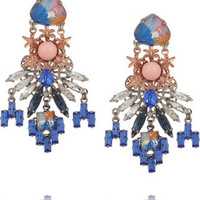 VICKISARGE Rose gold and palladium-plated Swarovski pearl and crystal earrings – 60% at THE OUTNET.COM
