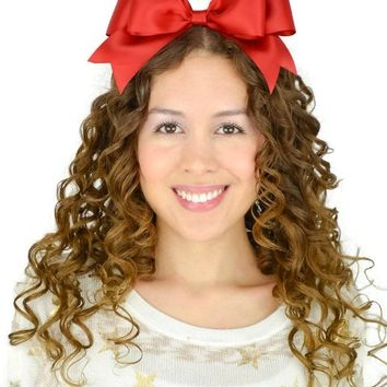Snow White Sweet in the City Red Hair Bow Headband Satin Ribbon Double Layer Sweet Lolita Oversize Big Huge Hairband Accessories