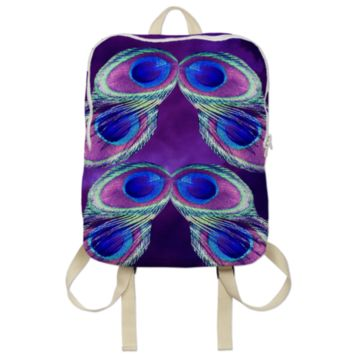 Peacock Feather Backpack created by ErikaKaisersot | Print All Over Me