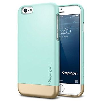 iPhone 6 Case, Spigen® [Safe Slide] iPhone 6 (4.7) Case Protective [Style Armor] [Mint] SOFT-Interior Scratch Protection Metallic Finished Base with Dual Layer Protection Slim Trendy Hard Case for iPhone 6 (4.7) (2014) - Mint (SGP11046)