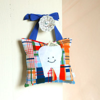 Boys Tooth Fairy Pillow In Navy Blu.. on Luulla