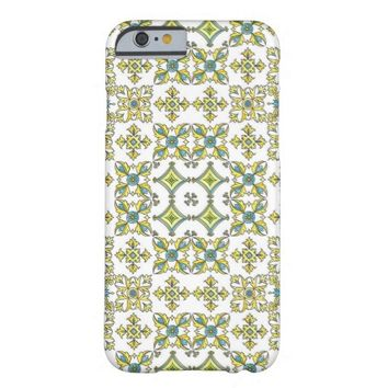 White multicolor textile pattern iPhone 6 Case