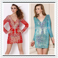 Ycd11010 Stunning Deep V Neck Heavy Beaded Long Sleeve Short Formal Cocktail Dress For Fat Women Dresses Pictures - Buy Fat Women Dresses Pictures,Cocktail Dress For Fat Women,Long Sleeve Short Formal Cocktail Dress Product on Alibaba.com
