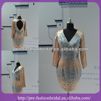 Alibaba.com - Wholesale Real Sample Picture Beaded Overlaying Satin Mini Formal Cocktail Dress With Long Sleeve