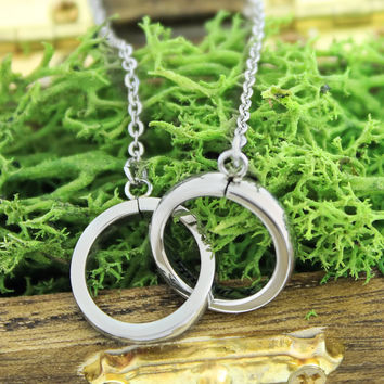 "Infinity Necklace - Purity Necklace Engraved on Inside with ""To Infinity and Beyond"", 18"" Chains Included"