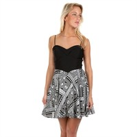 Emerald Sundae Juniors Caged Back Fit-and-Flare Dress at Von Maur