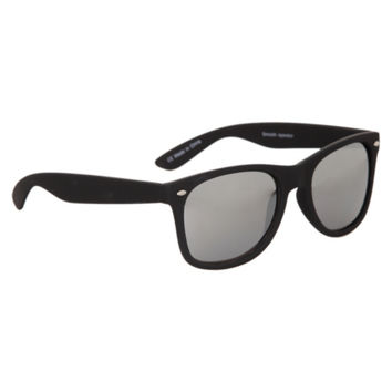 Black Smooth Touch Mirror Sunglasses