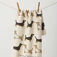 Sweet Dachshunds Dishtowel