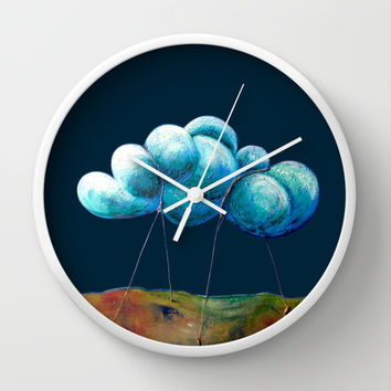 Cloud Tied Wall Clock by Timone | Society6