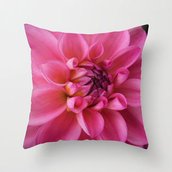 Beauty Unfurled Throw Pillow by Rebekah Joan | Society6
