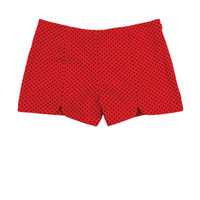 Red Dot High-Rise Shorts