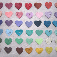 200 Plantable Paper Hearts - Flower Seed Wedding Favor