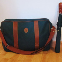 Green Ralph Lauren Polo canvas messenger bag with umbrella