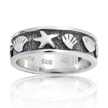 Bling Jewelry Sterling Silver Nautical Sea Life Ring