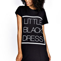 Lola 'Black Dress' T-Shirt Dress