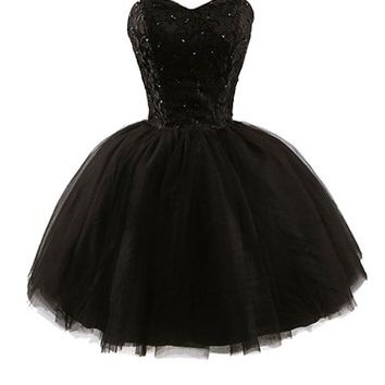 APTRO Womenx27s Sweetheart Tulle Short Homecoming Party Dresses