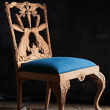 Handcarved Menagerie Dining Chair