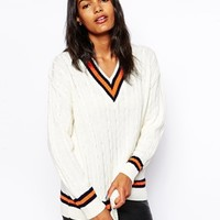 Glamorous Cricket Sweater with V Neck