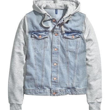 Hooded Denim Jacket  from H M