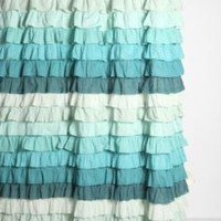 UrbanOutfitters.com > Tonal Wave Ruffle Shower Curtain