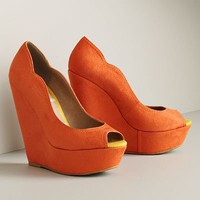 ELLE Peep-Toe Platform Wedges