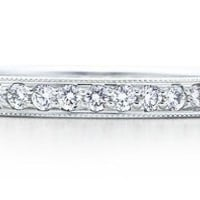 Tiffany &amp; Co. | Item | Tiffany Legacy Collection? band ring of diamonds in platinum, 2mm wide. | United States