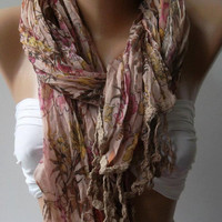 Soft Flowers  --  Elegance Shawl / Scarf,,,,