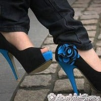 Exotic Flower Decorated Peep-Toe Platforms Stilettos by AbsoluteShoes.Station on Sense of Fashion
