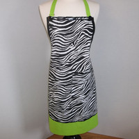 Zebra Striped Party Apron    O.O.A.K.
