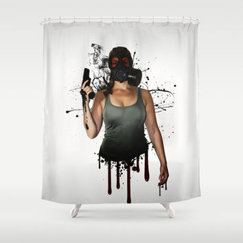 Bellatrix Shower Curtain by Nicklas Gustafsson