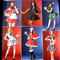 Womens Sexy Costume Pattern - Pirate, Red Riding Hood, Witch, Mrs Santa, Alice in Wonderland, Costumes - Misses Adult size 18 20 22 24 UNCUT