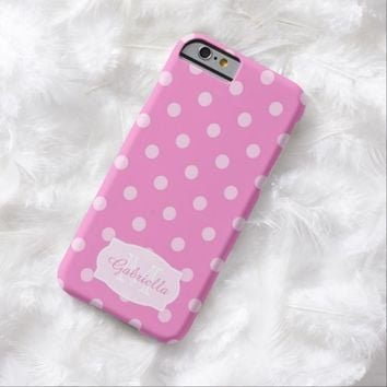 Pink Polka-Dot: Personalized: iPhone 6 case