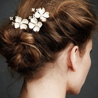 Dogwood Flower Hairpins in the SHOP Attire Hair Adornments at BHLDN