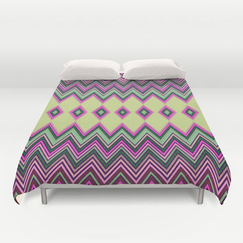 Uzochi Zigzags Duvet Cover by Webgrrl