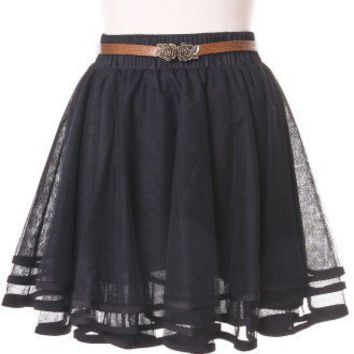 Delicacy Triple Layers Tutu in Black - Skirt - Bottoms - Retro, Indie and Unique Fashion