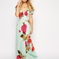 ASOS Maxi Dress in Rose Print