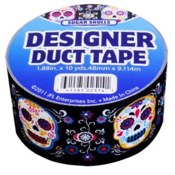 JFL 2536 Sugar Skulls Duct Tape 1.88 in X 10 yds 48 mm x 9.114 m
