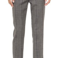 Glen Plaid Pencil Pants