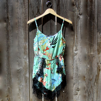 tropical dream lace playsuit