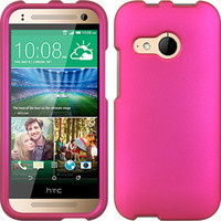 DW Rubberized Crystal Hard Case for HTC One Remix - Hot Pink