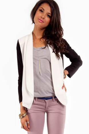 Polar Opposites Jacket in Cream :: tobi