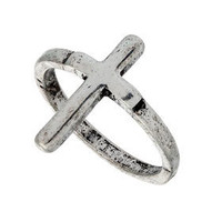 Cross Ring - Topshop $10.00