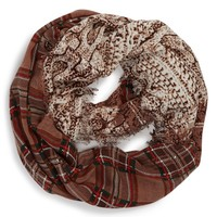 Big Buddha Plaid Infinity Scarf