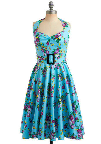 Enchanted Afternoon Dress | Mod Retro Vintage Printed Dresses | ModCloth.com