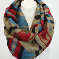 The Tribal Blanket Scarf™- Comfy Tribal Woven Infinity Scarf - Woven Blanket Cowl - Gifts For her - Gifts Under 40 Infinity Scarf