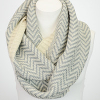 Abbey Knit Perfect Scarf™- Chevron Ribbed Circle Scarf Cozy Chic Winter Scarf - Winter Cowl - Gifts For her - Gifts Under 40 Infinity Scarf
