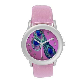 Peacock Feather Glitter eWatchFactory Watch