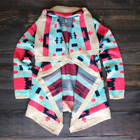 cozy knit cardigan sweater | turquoise